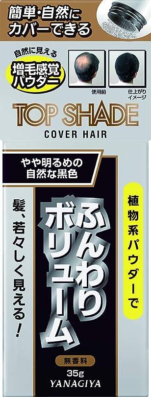 売り手モートみすぼらしいトップシェード カバーヘアー <やや明るめの自然な黒色> 35g