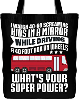 I Am Driving Tote Bag with Long Shoulder Strap, I Watch Kids In A Mirror Canvas Tote Bags