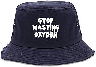 31eacac6feb FASHIONISGREAT Stop Wasting Oxygen Funny Goth Bucket Hat