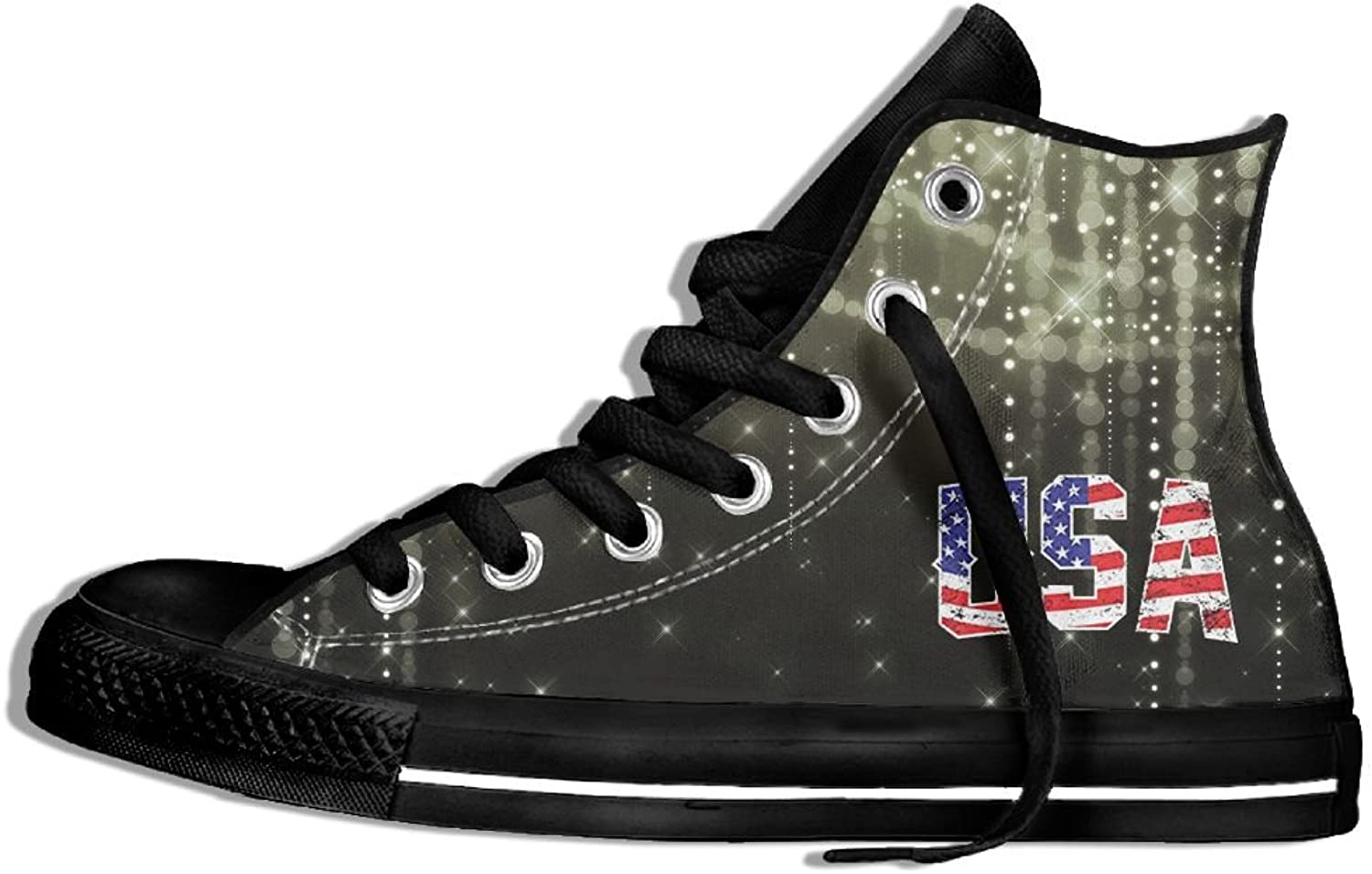 USA Flag High Top Classic Canvas Fashion shoes Trainers Sneakers