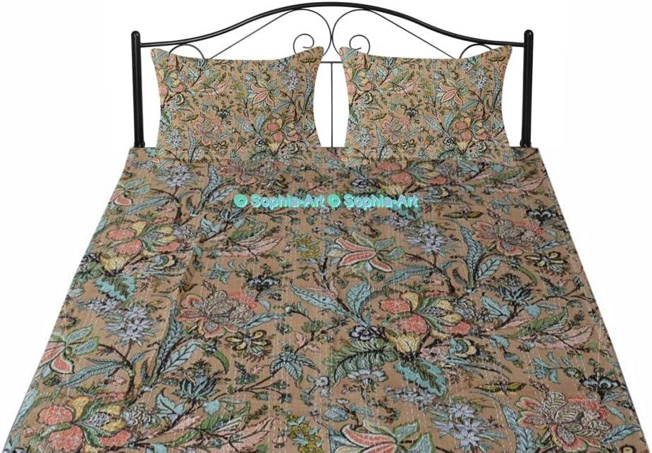 shipfree New Handmade Indian Kantha trust Blanket Boh Art Floral Unique