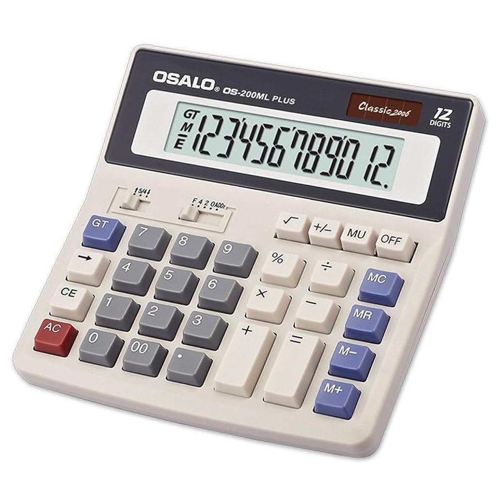 革命期限分析的なocamo 12桁表示ソーラーバッテリーデュアル電源電卓デスクトップとしてOffice Supplies
