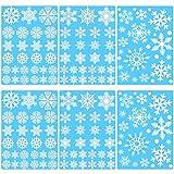 6 hojas de pegatinas navideñas copo de nieve blanco para ventana de vidrio para Navidad año nuevo invierno hielo y nieve tema moda fiesta país de las maravillas decoración adornos manualidades