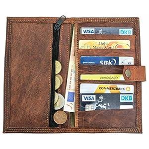 61hNaDKjd1L. SS300  - Gusti Cuero nature Valentin Cartera Monedero Billetera Piel de Cabra Vintage Retro Tarjetas Dinero Monedas A11