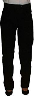 Womens Tuxedo Pants with Satin Stripe, Black, No Pleats, Adjustable Waist