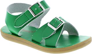 FOOT MATES Boy's Tide Hook-and-Loop and Buckle Sandal Kelly Green - 1015