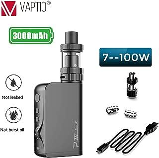 電子タバコスターターキットVaptio P3 Gear 3000mAh 最大 100W 電子タバコセットベイプ 禁煙減煙サポート電子たばこニコチンなし(黒)