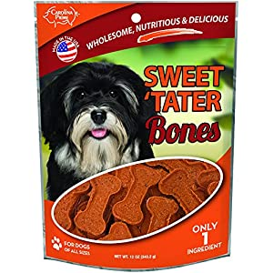 Carolina Prime Pet 45281 Sweet Tater Bone Treat For Dogs ( 1 Pouch), One Size