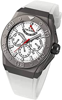 تي دبليو ستيل ساعة يد رجاليه بسوار مطاطي، CE5002