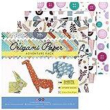 Paquete de papel para origami Adventure - 120 hojas - Papel japonés plegable con hermosos estampados crea infinidades de diseños - Papel de origami para niños y adultos - MozArt Supplies
