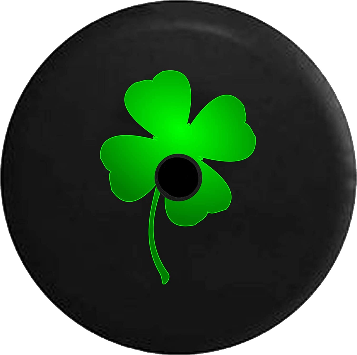 Pike Outdoors Jl Series Spare Tire Cover Backup Camera Hole Green Lucky 4 Leaf Clover Shamrock Irish Heritage Black 33 In Automotive