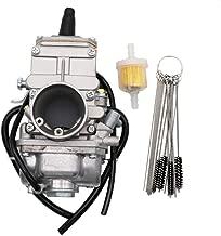 KIPA Carburetor for Mikuni 28mm TM28 Flat Slide Performance Carb VM28-418, Fits For Honda CB350 CL350 CB360 KAWASAKI SUZUKI KTM, With Carbon Dirt Jet Cleaner Tool Kit