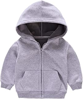 Fairy Baby Kids Winter Outfit Children Solid Fleece Sweatshirt Hooded Outwear Jacket