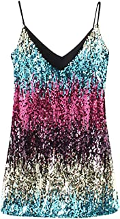 Sequin Dress Women's Sparkle Glitzy Glam Sequin Sling Flapper Party Club Dress