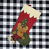 PPTS medias de Navidad personalizado bordado de Papá Noel muñeco de nieve renos mini botas bolsillo rojo felpa tartán calcetines de Navidad Año Nuevo caramelo regalo regalo árbol decoración