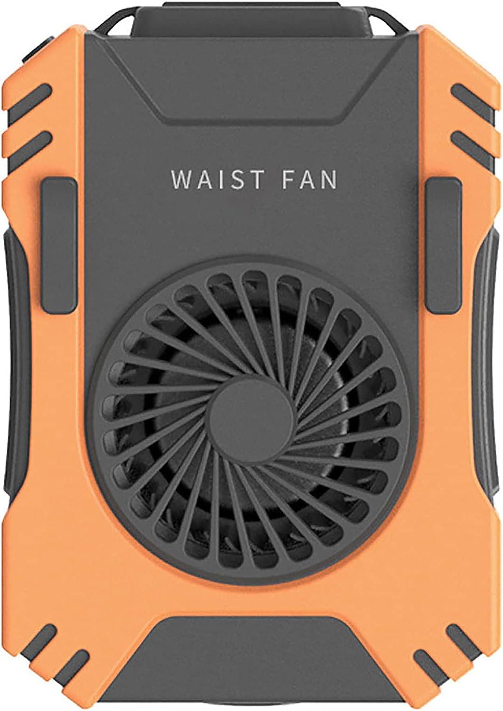 73HA73 Mini Ventilador de Enfriamiento de Cintura, Enfriador de Aire Portátil, Clip de Aire Acondicionado con Cuello Colgante USB para Trabajo al Aire Libre, Disipador de Calor para Pesca