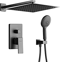 Rain Shower System, Modern Shower Faucet Set with Rough-in Valve, 12