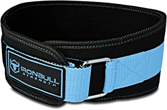 Iron Bull Strength Women Weight Lifting Belt - High Performance Neoprene Back Support - Light Weight & Heavy Duty Core Support for Weightlifting and Fitness