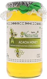 Farm Naturelle-Virgin 100% Pure Raw Natural Unprocessed Acacia Jungle/Forest Flowers Honey- 1 KG Glass Bottle