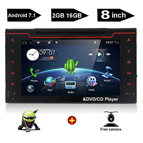 YUNTX 2 din Android 7.1 in Dash Navigation car DVD Player fit Toyota Corolla 2016 2017