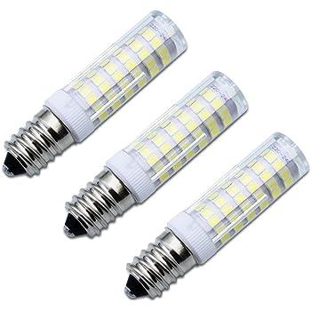 SPTwj 3 bombillas LED E14 no regulables de 6 W equivalentes a bombillas halógenas de 50 W, luz blanca cálida, 550 lúmenes, 3000 K, clase energética A++.: Amazon.es: Iluminación