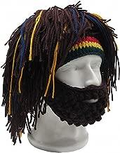 Womens Mens Skullies Beanies Hat Handmade Knitted Men Winter Crochet Mustache Hat Beard Beanies Face Tassel Bicycle Mask Ski Warm Cap Funny Hat Gift New