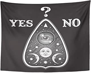 258d0dcfb Emvency Tapestry Aged Ouija Board Mystifying Oracle Planchette Antique  Style Boho Chic Sticker Tattoo Alchemy Divination