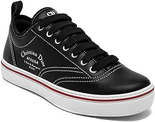 Dior Homme Men's Leather Atelier Low-Top Sneaker Shoes Black