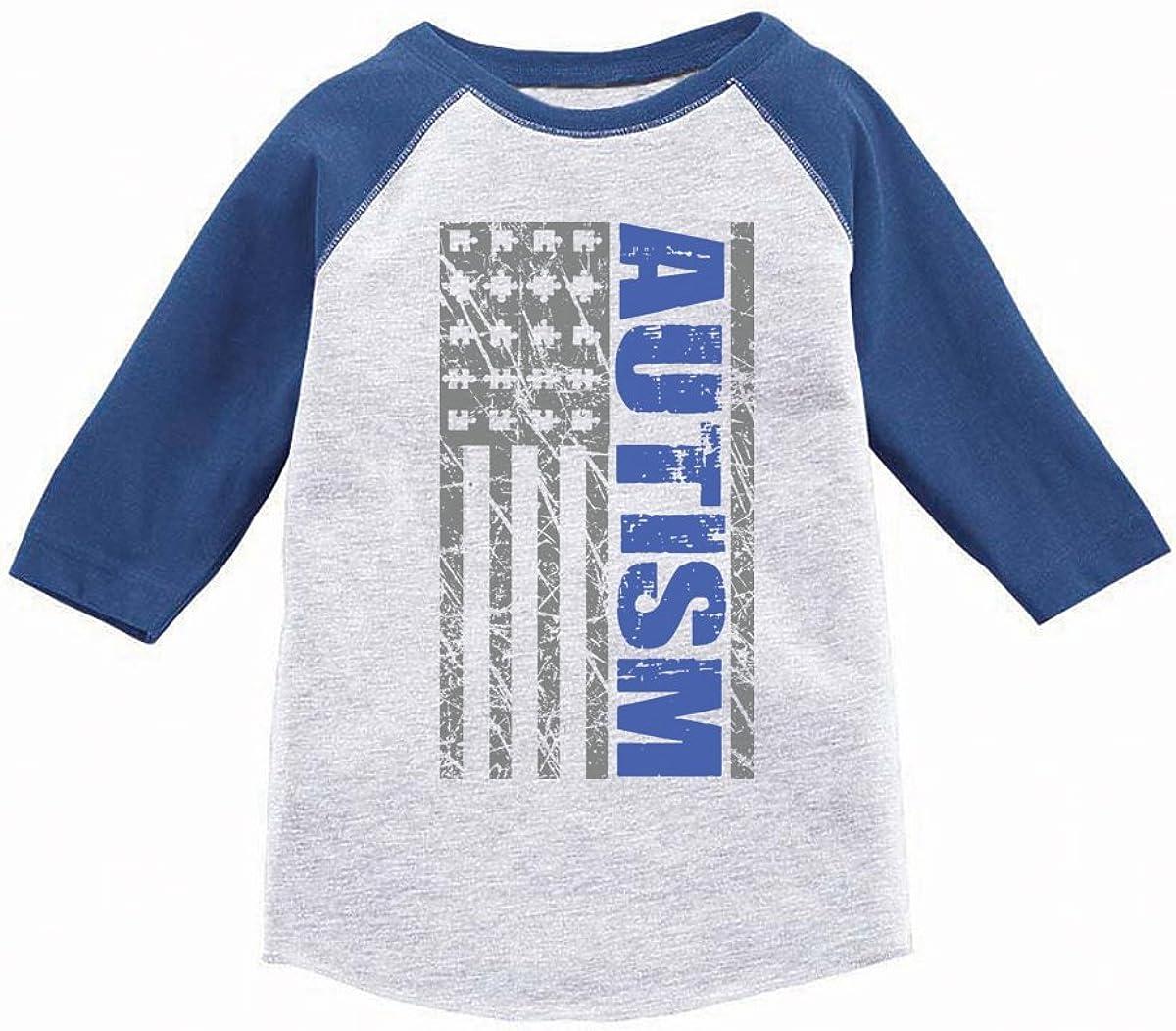 Awkward Styles Toddler Autism Shirt USA Autism Flag Boys Girls Autism Shirt