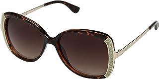 Guess Butterfly Women's Sunglasses, Dark Havana with Brown Gradient Lenses GF6084 52F Lens 59mm