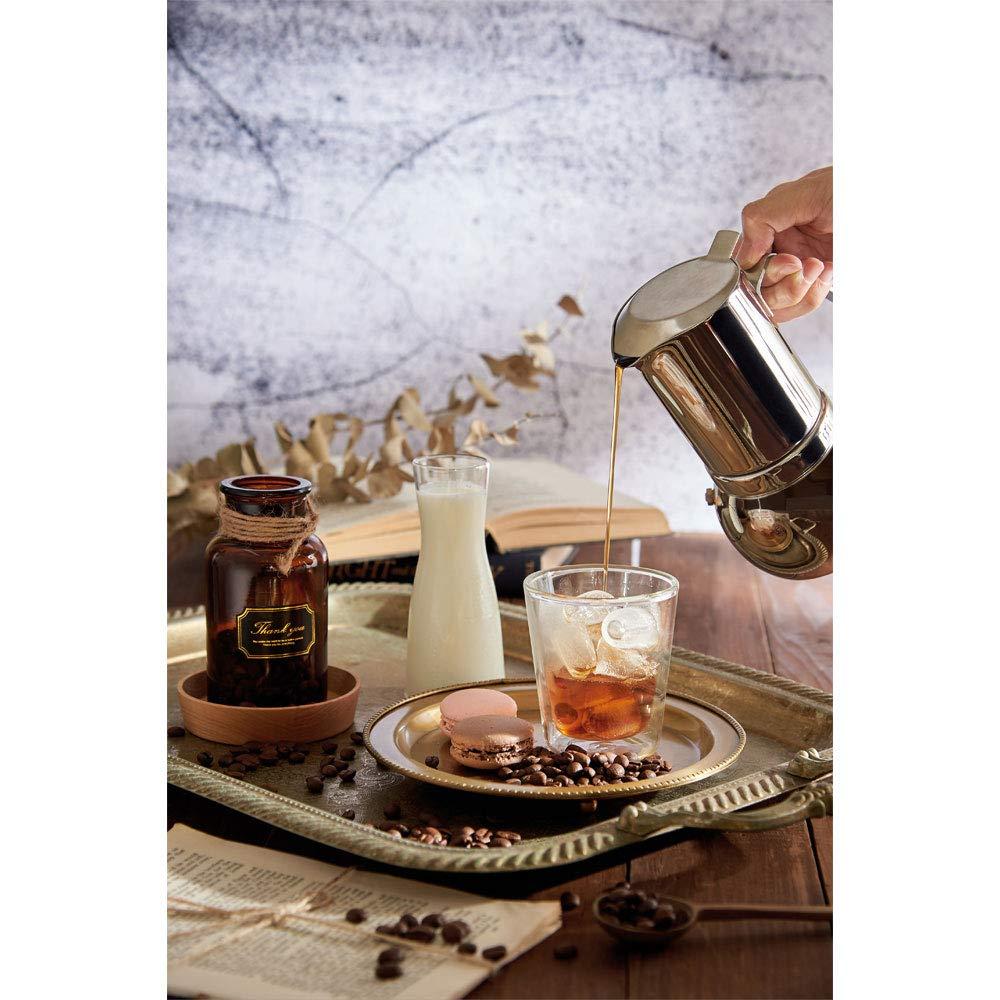Cafetera italiana de acero inoxidable 304 para café expreso ...