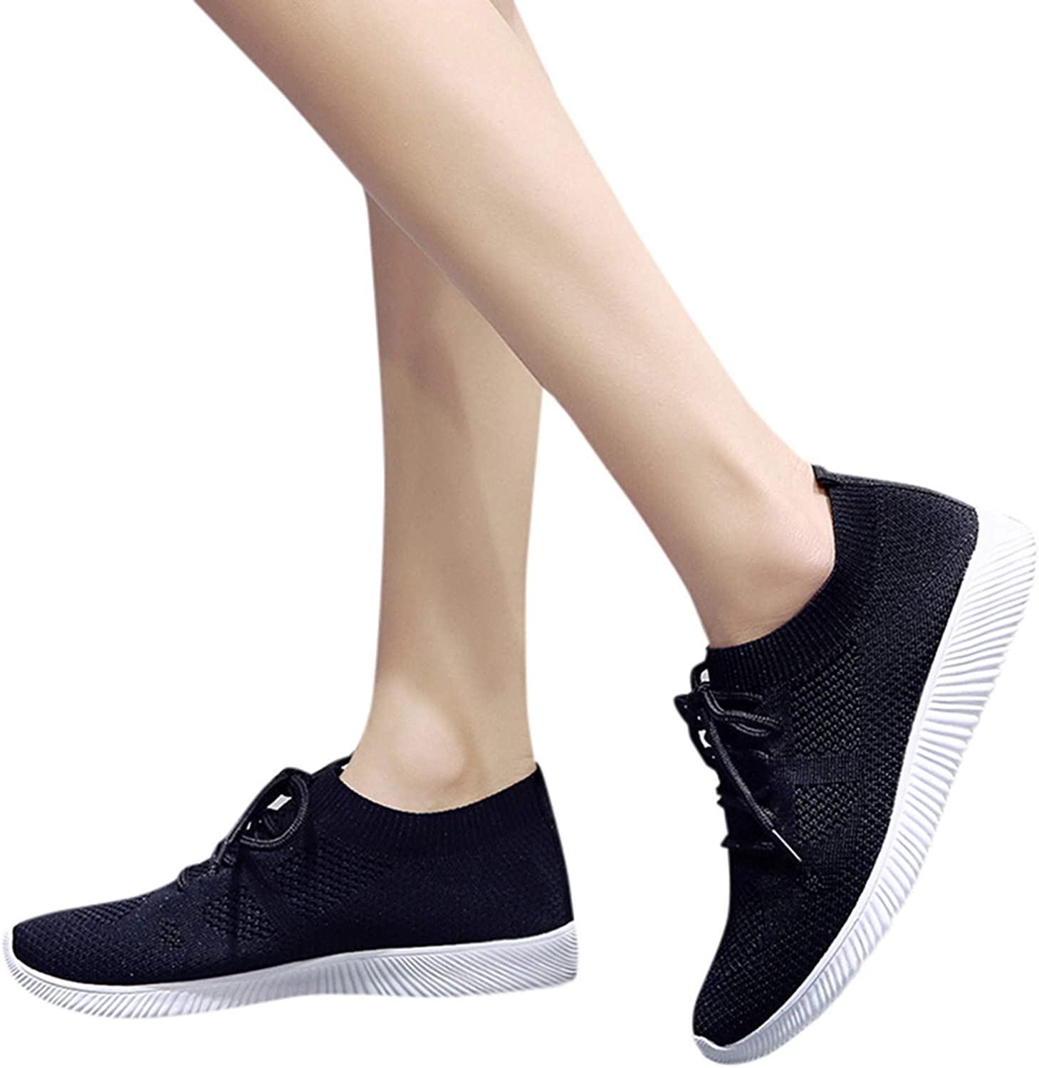 UOCUFY Walking Shoes for Women Sneakers,Slip On Platform Shoes Low Tops Lightweight Walking Shoes Comfort Ladies Leisure Shoes