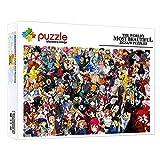 ZTCLXJ 1000 Piezas Challenge Puzzle Sets Puzzle 1000 Piezas para Adultos Colección Anime Personaje Dragon Ball Naruto Pokémon One Piece para Adultos Y Niños Juguete Educativo 15 X 10 In