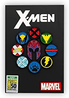 X-Men Superhero Symbol Pin | Exclusive Marvel X-Men Collectible Pin | Includes Wolverine, Cyclops, Magneto, More