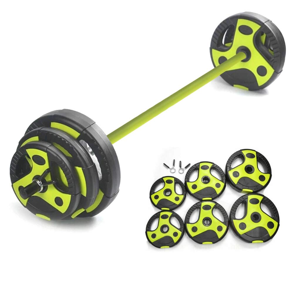 20kg Studio Body Pump Set ✅ Barbell /& Weight Plates Gym Bar 5kg 2.5kg Bodypump