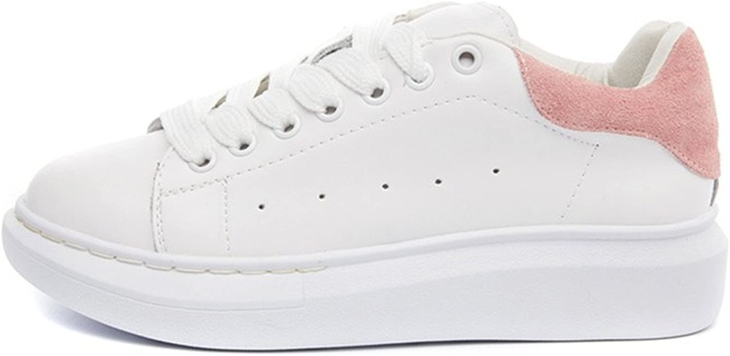 Nerefy Genuine Leather Sneakers Women White shoes Fashion Lace-up Platform shoes for Women