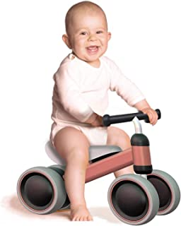 outdew Baby Balance Bike Bicycle Ride On Toys 1 Year Old Baby Walker 10-24 Months No Pedal 3 Wheels Toddler Bike Infant First Birthday Thanksgiving Indoor Outdoor (Pink)