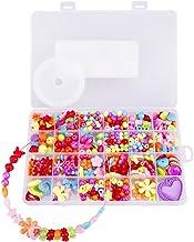 Afinder Set van 500 stuks om zelf te rijgen, kralen, accessoires, halsketting, armbanden, ringen, kralen, letters, parelsi...