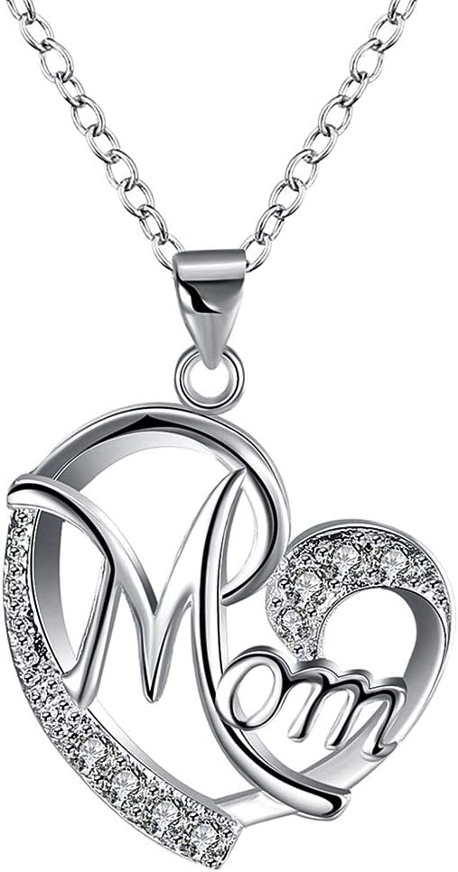 GAUSKY Mother's Day Gift Necklace Heart depot security Pendant Mom for Women Bi
