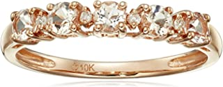 morganite stacking rings