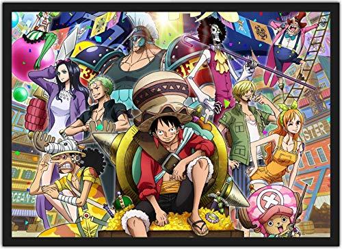 Quadro Decorativo Desenho One Piece Anime Salas Quartos Decorações Com Moldura T002
