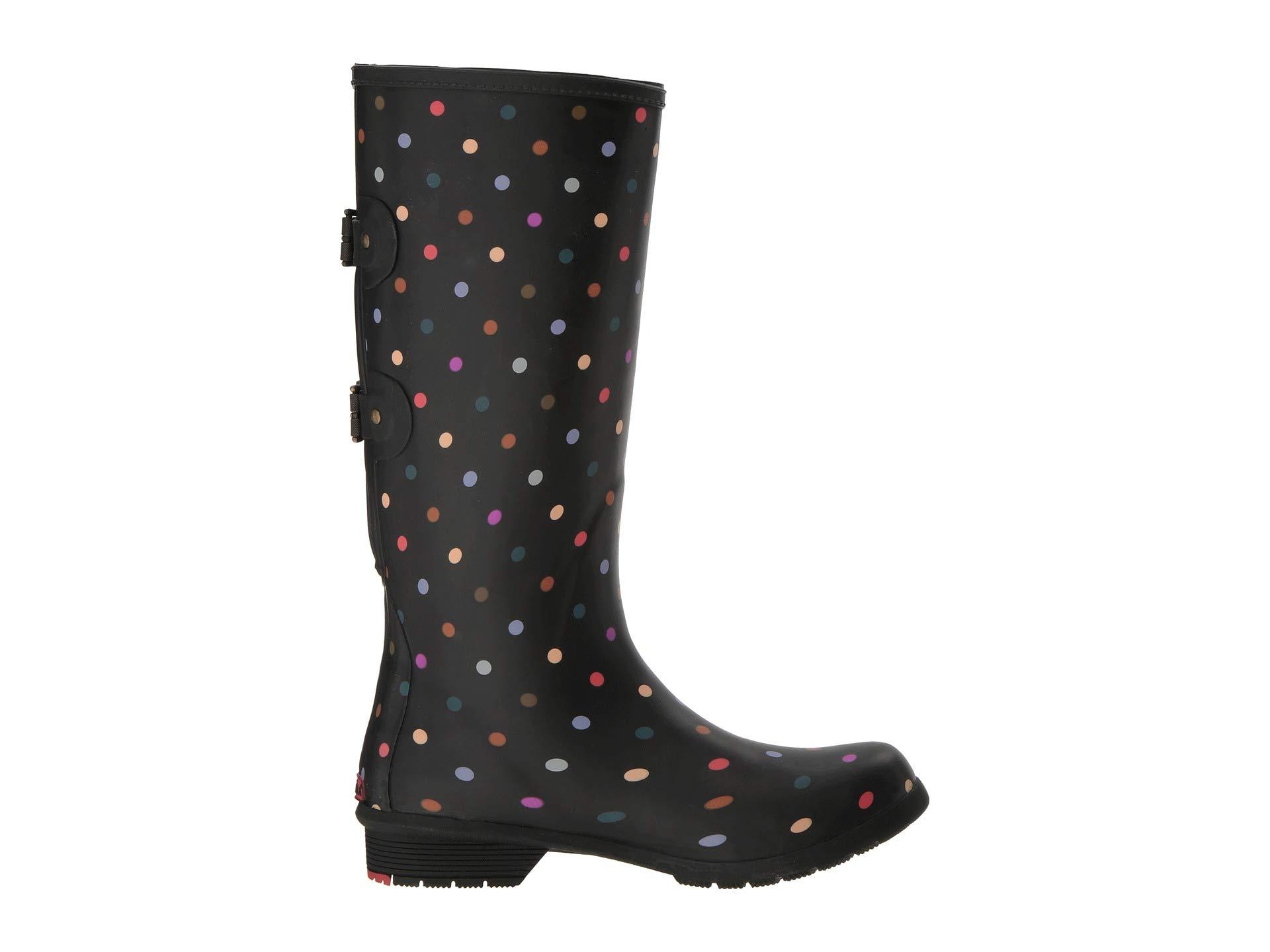 Wide Chooka Rain Boot Dot Black Calf Versa 1qr1I