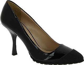 Miu Miu Zapatos Puntiagudos tacón de Carrete de Mujer Piel Brillante Negra - Número de Modelo  5I9531 LZF F0002