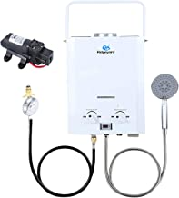 Outdoor Portable Tankless Water Heater, 1.58GPM 6L LPG Gas Water Heater, Instant Propane Water Heater, Overheating Protect...