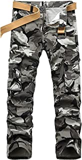 ICKER Men's Cargo Trousers Camouflage Trousers Work Trousers Leisure Trousers