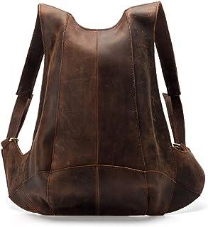 Mochila de piel con cremallera en la parte trasera antirrobo, bolsa escolar informal para hombres y mujeres