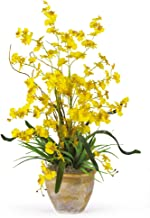 Nearly Natural 1005-YL Dancing Lady Silk Orchid Arrangement, Yellow