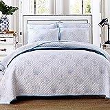Colcha Acolchada Cubrecama Edredón,3 juegos de cama para 2 personas, edredón de verano con aire acondicionado, manta de viaje, manta para sofá de ocio y sábanas gruesas de invierno-azul_91x98inch