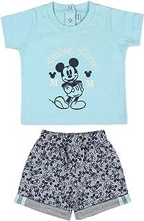 Cerdá Conjunto Ropa Bebe Niño Disney Mickey Mouse Camiseta Pantalon de Algodón Color Azul