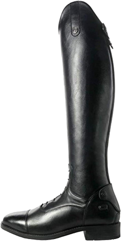 Brogini - Como V2 - Stivali da Equitazione (38 EU - Polpaccio 37 cm) (Nero)